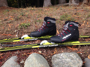 Youth x-country skis and boots