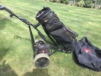 Golf bag and electric trolley