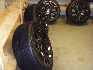 "Awesome 22"" Black Chrome rims with tires"