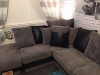 Corner Sofa Black And Grey