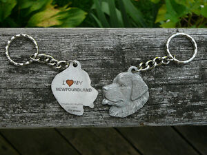 Newfoundland pewter keychains and magnet, Newf key-ring Oakville / Halton Region Toronto (GTA) image 1