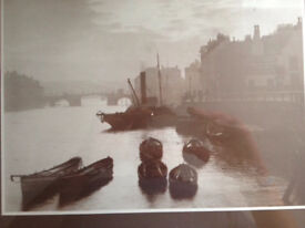 Whitby cobbles,early framed pictures