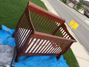 4 in 1 Wood Baby crib with mattress