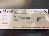 Thriller tickets