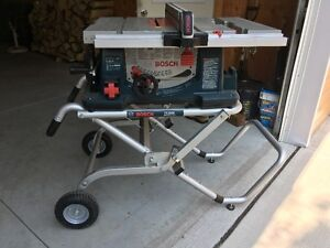 """Bosch 10"""" Table Saw c/w Table"""