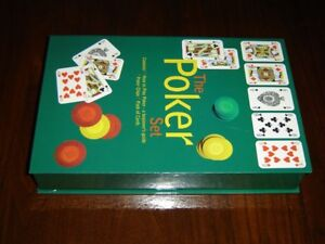 Poker set with cards and game book NIB