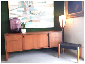 Vintage Walnut Office Credenza
