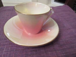 ROYAL WINTON TEACUP & SAUCER-PINK LUSTRE   K 687