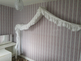 Double bed drape & brackets collection Peterlee
