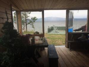 Cabin for sale on Stuart Lake