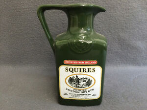 Collectible Antique Squires Distilled London Dry Gin Pitcher