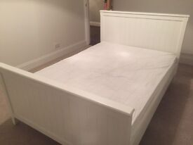 Laura Ashley Double Bed For Sale (with Side Table and Mattress)