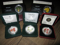 2001-2006 Coloured 1 oz Silver Maple Leaf Collector RCM Coins