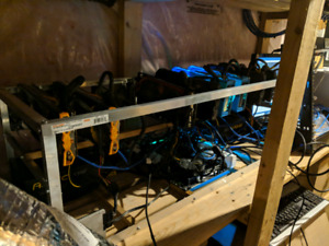 Ethereum cryptocurrency mining rig 240 hash rate