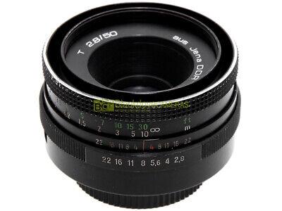 Aus Jena DDR (Zeiss) T 50mm f2,8, obiettivo per fotocamere innesto vite M42 42x1