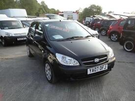2007 Hyundai Getz 1.1 GSi 5-door BLACK. **ONLY 24,000 MILES** FSH.