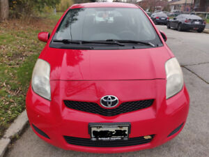2010 Toyota Yaris, Automatic, 4-Door Hatchback, Red AS IS