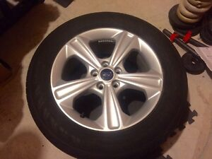 235/55/R17 - OEM CONTINENTAL All-Season TIRES AND RIMS  Cambridge Kitchener Area image 4