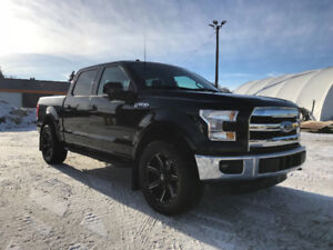 RARE 2015 F-150 LARIAT WITH LEATHER AND SPLIT SEAT UP FRONT