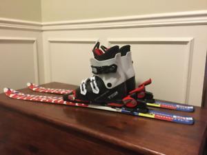 Skis et bottes de ski pour enfant
