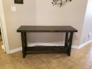 Console Table made with reclaimed wood