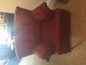 Red comfy chair