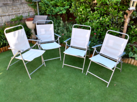 Garden chairs x4 folding