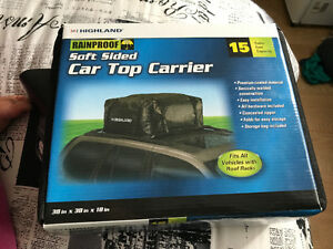 Roof top car carrier with mat