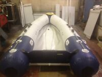 INFLATEABLE ZODIAC 340S, SOLID FLOOR BOAT, NEARLY NEW