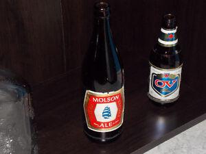 Molson Ale, Old Large Bottle Stratford Kitchener Area image 1