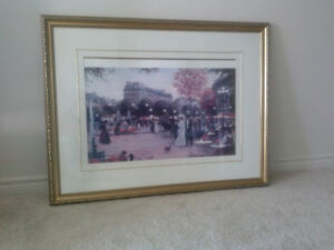 FRAMED WALL PAINTING
