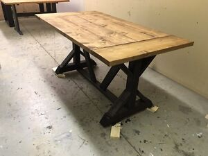Handmade rustic dining table. Free delivery