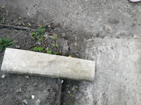 Garden edging stones.