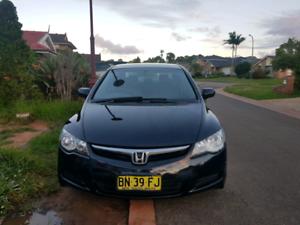 Honda civic 2007 - aug 2019 rego