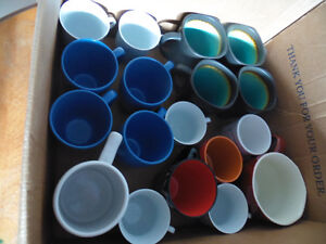 Large lot of cups