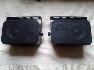 TWO  SPEAKERS .CAN BE USED OUT ALSO