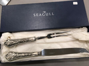 Solid Pewter carving set