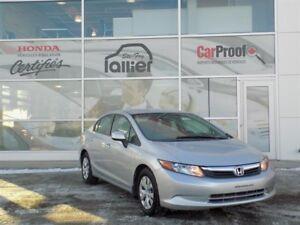 Honda Civic LX GARANTIE 10ANS OU 200 000KM JAMAIS ACCIDENTÉ 2012