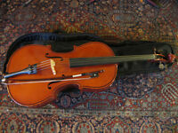 Cello, 1/4 size - solid woods - European
