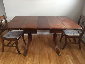Antique table & chairs