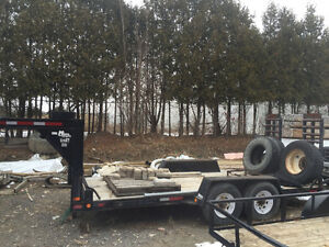 Gooseneck Equipment trailer 7ton utility trailer flatbed