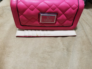Pink Guess Leather Clutch