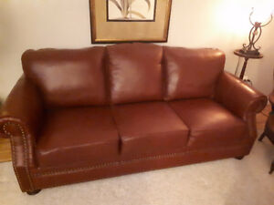 Leather Couch and Chiar
