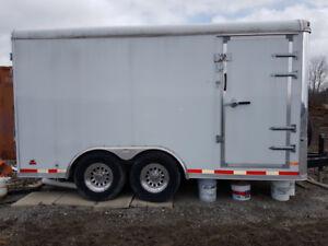 White Heavy Duty 8.5 Feet X 14 Feet Cargo Trailer
