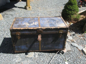 TWO OLD ANTIQUE TRUNKS.  * * * (NOW $25 FOR BOTH OF THEM) * *  *
