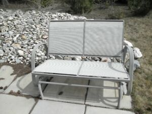 Two seat patio glider