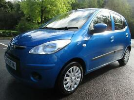 09/09 HYUNDAI I10 ES 1.0 5DR HATCH IN MET BLUE WITH HYUNDAI SERVICE HISTORY