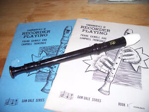 ANGEL RECORDER & 2 RECORDER PLAYING BOOKS