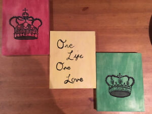 King and queen one life one love paintings