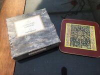 6 Vintage Cork Leaf Coasters